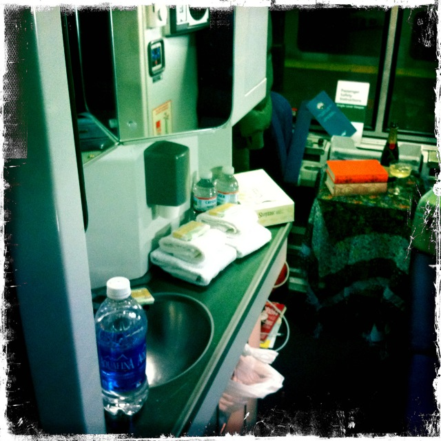My bedroom on the Lake Shore Limited.